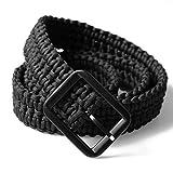 CAMPSNAIL Survival Kit EDC Paracord Belts - Metal Buckle Belts for Men (Black (Buckle))