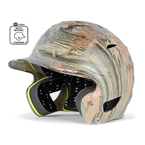 Under Armour Baseball UABH110-FGB2: BK Classic Solid Batting Helmet with Baseball Faceguard