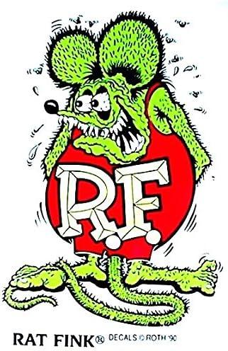 Rat Fink 7 Decal Sticker Ed Big Daddy Roth Hot Rod Car