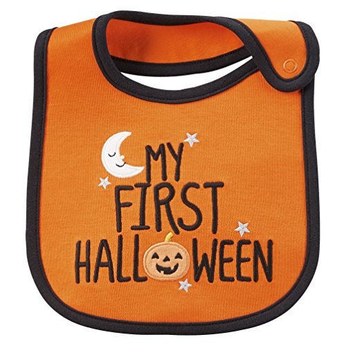 Just One You by Carter's Unisex Baby Novelty bib (My First Halloween) ()