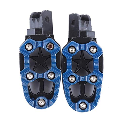 (Frames & Fittings 2 Pcs Universal Metal Engine Footrest Pedals Footrest with Spring Motorcycle Off-Road Car Accessories Foot Rests - (Color:)