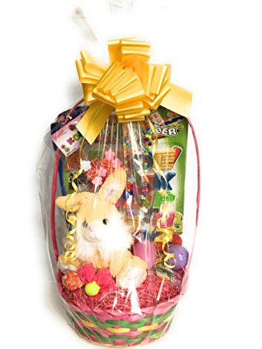 Beautiful yellow bunny rabbit assortment easter basket compl