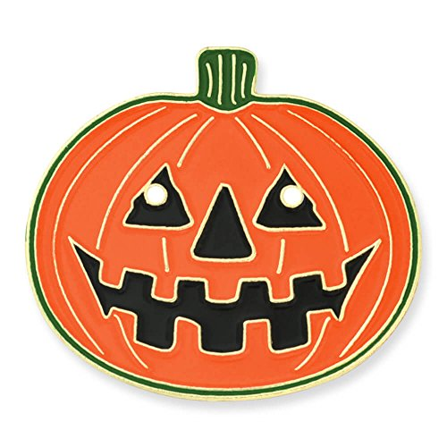 PinMart's Halloween Pumpkin Jack-O'-Lantern Holiday Lapel Pin 1'' by PinMart