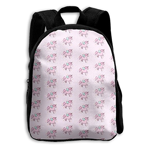 Pink Unicorn Kid Boys Girls Toddler Pre School Backpack Bags Lightweight
