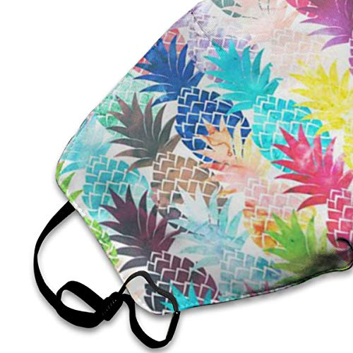 NOT Hawaiian Tropical Pineapple Personality Lovely Unisex Dust Mask, Suitable for Young Men and Women, Ski Bike Camping Windproof Motorcycle Face Mask