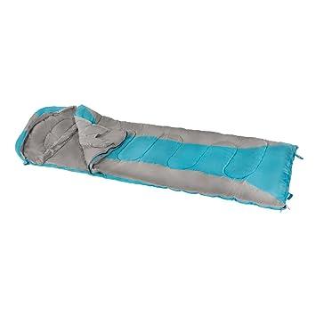 Aktive - Saco de dormir momia, 210 x 75 cm, 300 GSM, 0/15º C, color gris y azul (ColorBaby 85281): Amazon.es: Deportes y aire libre