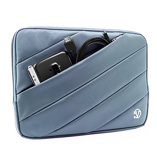 Nylon Lightweight Carrying Quilted Sleeve Blue Travel Case for Apple iPad Pro, Mini 4, Air 2, 7.9