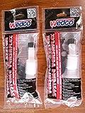 2-Pack (TWO) Wedco / Briggs & Stratton Versaflex Gas Spouts & Parts System Kits incl Flexible Spout w/ Gasket & Spout Cap 84060, Screw Cap Collar 84004CR, Stopper Seal Disc 84002 & Rear Vent Cap 84003