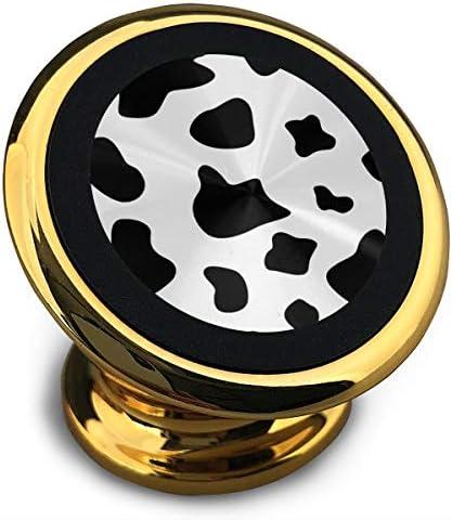 牛の白と黒 携帯電話ホルダー おしゃれ 車載ホルダー 人気 磁気ホルダー 大きな吸引力 サポートフレーム 落下防止 360度回転