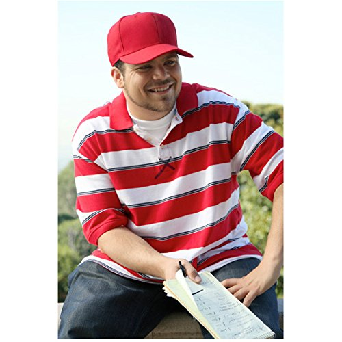 Entourage 8 x 10 Photo Jerry Ferrara Smiling Red & White Striped Shirt Red Hat Holding Papers Pose 2 kn by...