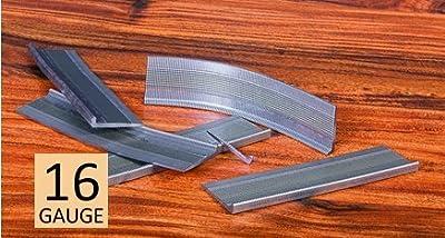 """(5 Pack) 1,000 Flooring Pro Hardwood Flooring L-Cleats Fasteners - 2"""" - 16 Gauge - Fastens Aprox 200 SF"""