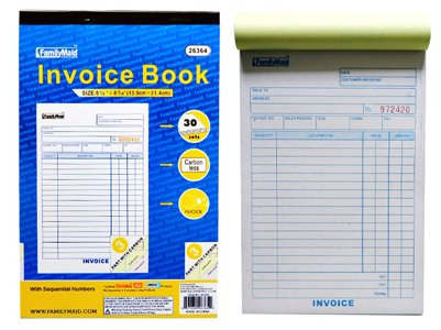 Amazoncom Part Sets Carbonless Sales Invoice Book Pack Of - 3 part invoice book