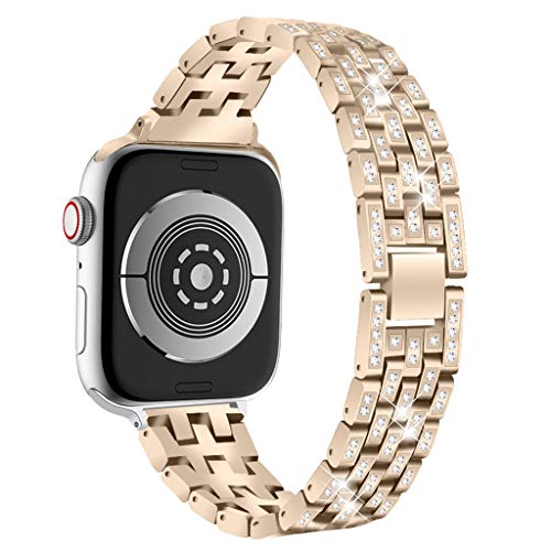 (Clearance! Stainless Steel Metal Bracelet Watch Band for Apple Watch Series 4 40mm/44mm Women Replacement Wrist Straps)