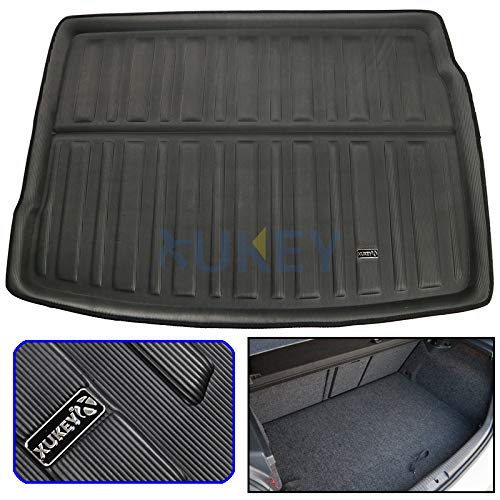 XUKEY for VW Golf MK6 Rabbit R R32 GTI Cargo Liner Boot Rear Trunk Mat Tray Floor Carpet Luggage Tray Mud Kick Pad Tailored ()