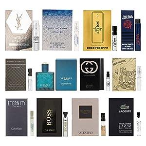 12 Men's Cologne Samples Vials & Miniature Set Tom Ford, Yves Saint Laurent