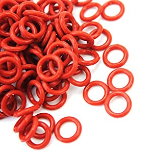 lecimo 120 Pieces Silicone Ring O-ring Gasket Dark Red for Cherry MX Replacement Parts
