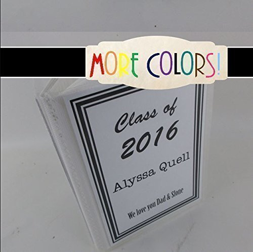 Graduation Photo Album 037 4x6 or 5x7 High School Graduate Gift Senior Class picture album, highschool Personalized graduation gift, up to 100 pictures- MORE COLORS