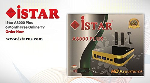 iStar Korea A8000 Plus IPTV Box 6 MONTHS FREE subscription provide 6 months  software Warranty Arabic Turkish Kurdish English Persian  &  more channels include MBC Dubai OSN Bein Sport Nile SKY Group