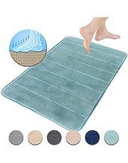 FRESHMINT Memory Foam Bath Mat,Soft, Comfortable, Non-Slip, Super Cozy Velvet Bath Rug