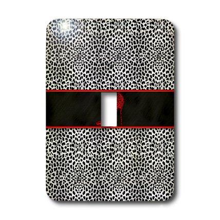 3d Rose 3dRose LLC lsp_38695_1 Silver Cheetah Print and R...