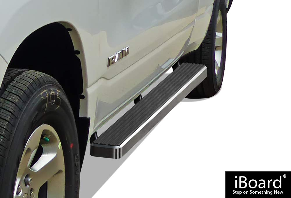 APS Premium 4' iBoard Running Boards Fit 19-20 Dodge Ram 1500 Crew Cab
