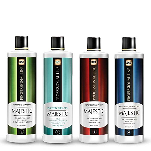Majestic Hair Protein Therapy 475ml (16oz) - Formaldehyde Free - Complete KIT