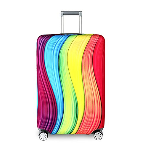 (Travel Suitcase Protector Zipper Suitcase Cover Washable Print Luggage Cover 18-32 Inch)