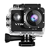 Vtin 2.0 Inch 1080P HD Waterproof Sports Action Camera DV Camcorder Kit with 170 Degree Wide Angle Lens and 16 Accessories