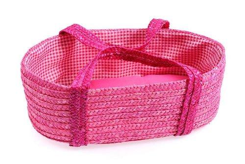 Tote borsa in paglia rosa