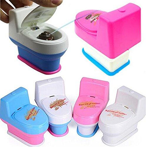1 Pc Mini Funny Squirt Spray Water Toilet Closestool Vent Jokes Gags Pranks Maker Trick Novelty Toy Desktop Gift Color Random