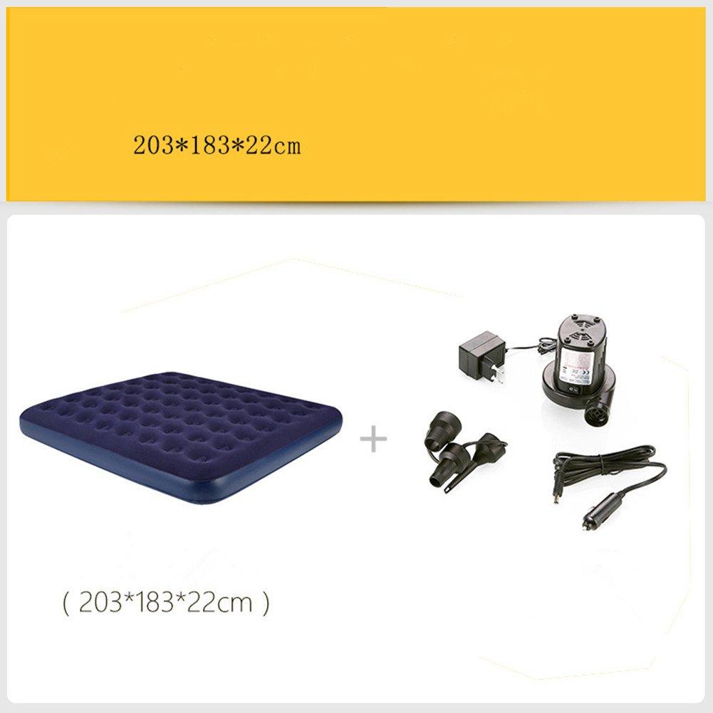 YJIAO Campingzubehör,mit Pumpe,Zweipersonen-aufblasbares Bett Outdoor Leicht Zu Carry33 Aufblasbare Matratze Blau