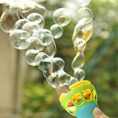 Electric Bubble Wands Machine Bubble Maker Automatic Blower Outdoor Toy for Kids (Blue) : Baby