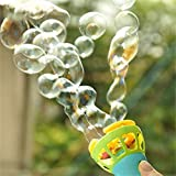 Weiliru Bubble Machine Automatic Bubble Maker with,Great Toy for Toddlers, Extra Gift of Children's Day for Birthday Party, Indoor and Outdoor