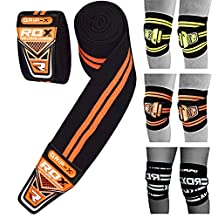 RDX Knee Wraps Weight Lifting Bandage Straps Guard Powerlifting Pads Sleeves Gym