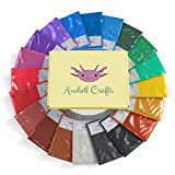 Mica Powder Set- Cosmetic Grade Pearl Pigment Powder for Slime, Resin, Bath Bombs, Epoxy- 20 Colors (0.35oz/10g Each)- Soap Making Colorant Packs- Dye for Makeup, Nail Art, Paint, Clay- Natural