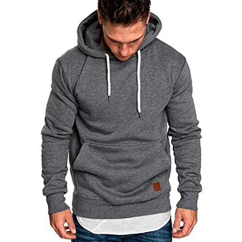 Realdo Big Promotion Mens Solid Casual Hoodie Autumn Winter Top Tracksuit with Pocket Clearance Sale from Realdo