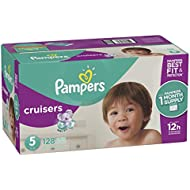 Pampers Cruisers Disposable Diapers, Size 5, 128 Count