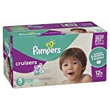 Baby : Pampers Cruisers Disposable Baby Diapers, Size 5, 128 Count, ONE MONTH SUPPLY
