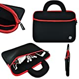 KOZMICC Black/Red Neoprene Sleeve Case with Handle for 13'' - 13.3'' Inch Laptop, Ultrabook, & the 13'' - 13.3'' Inch Apple Macbook Pro / Air