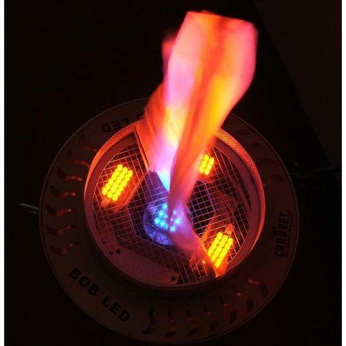 (2) Chauvet BOB LED DJ Club Simulated No Heat Fire Flame Simulator Light Effects