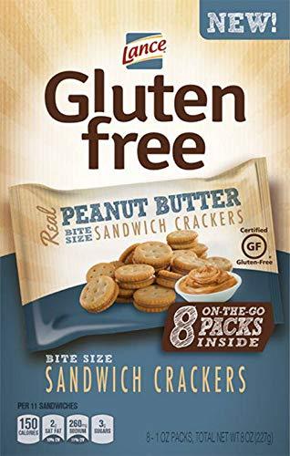 Lance Gluten Free Peanut Butter Sandwich Cracker, 1 Ounce -- 32 per case. by Snyder's of Hanover