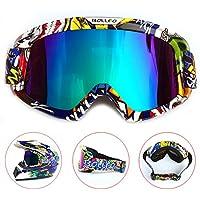 HONCENMAX Motocicleta Gafas de Protección con Máscara Facial