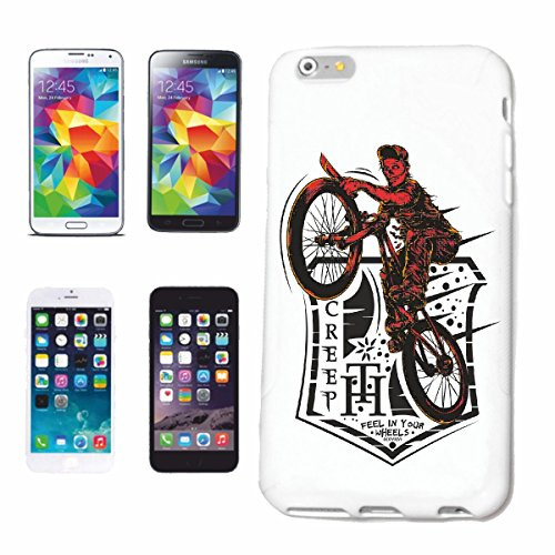 "cas de téléphone iPhone 6S ""FEEL GLISSEMENT DANS VOTRE ROUES VELO MOTOCROSS FREESTYLE BIKE Chopper MOUNTAINBIKE"" Hard Case Cover Téléphone Covers Smart Cover pour Apple iPhone en blanc"