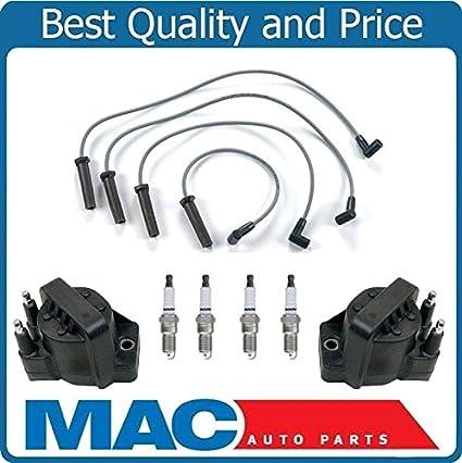 Amazon.com: for 98-02 Chevrolet Cavalier Ignition Coils + Wires Platinum Spark Plugs Kit: Automotive