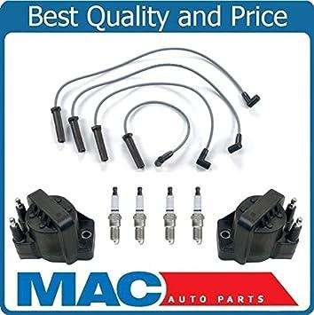 Para 98 - 02 chevrolet cavalier bobinas de encendido + cables Platinum bujías Kit: Amazon.es: Coche y moto