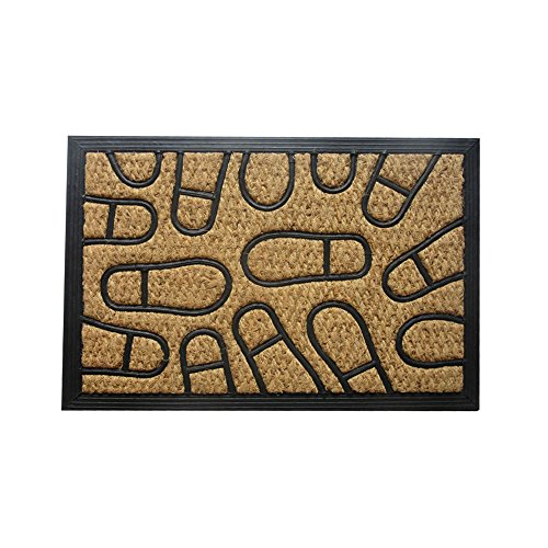Amber Home Goods Footprint Floormat Size 30 x 18, 30