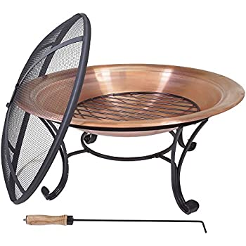 Amazon Com Titan 29 Quot Lw Copper Outdoor Fire Pit Table