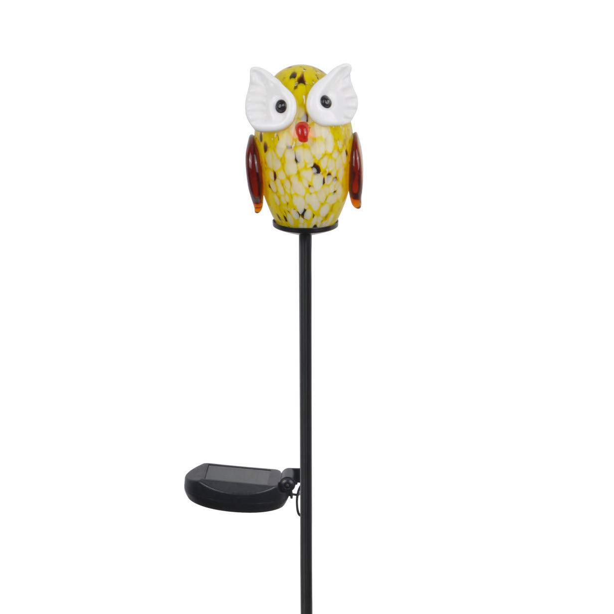 Peaktop - Outdoor Solar Owl Garden Stake - Yellow