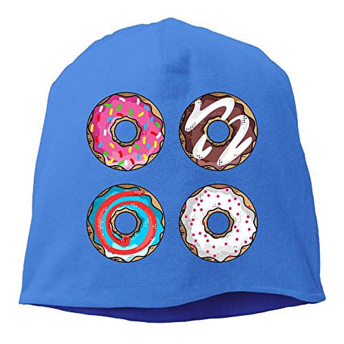 SADCPO Colorful Donuts Unisex Cool Beanie Watch CapFashion Ski Cap Warm Slouchy Beanie (Costume Ng Japan)