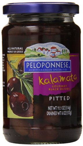 Peloponnese Olives Kalamata, Pitted, 6 Ounce by Peloponnese